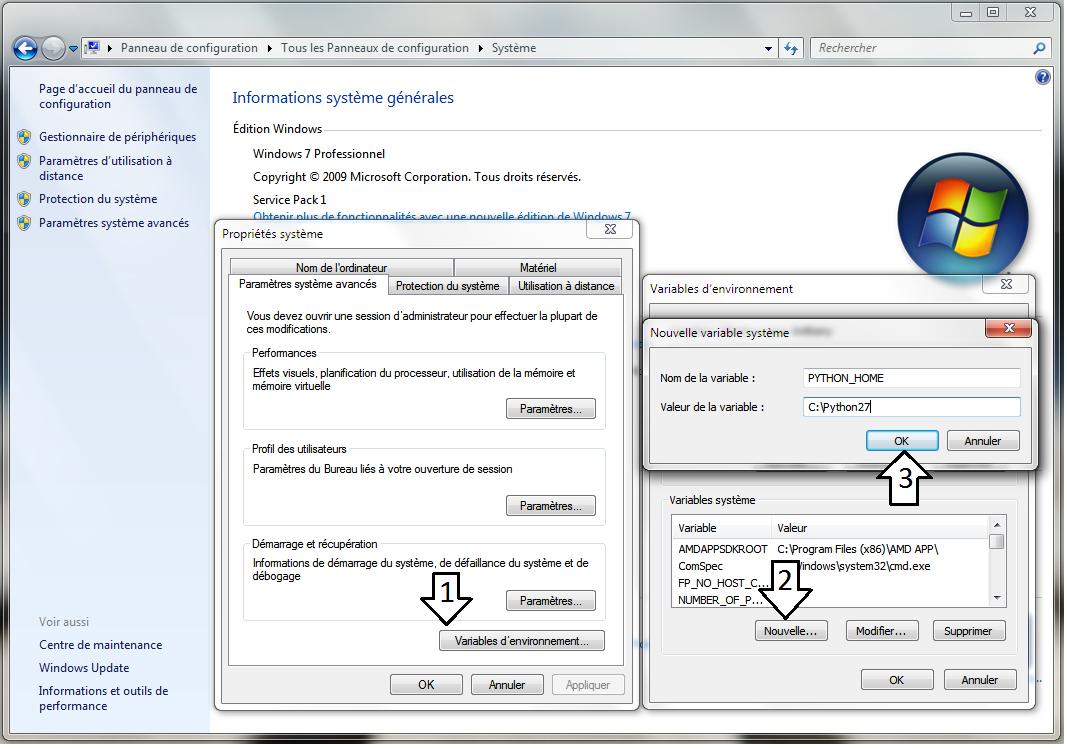 comment afficher une variable d environnement sous windows